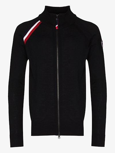 black Anthelme zip-up fleece