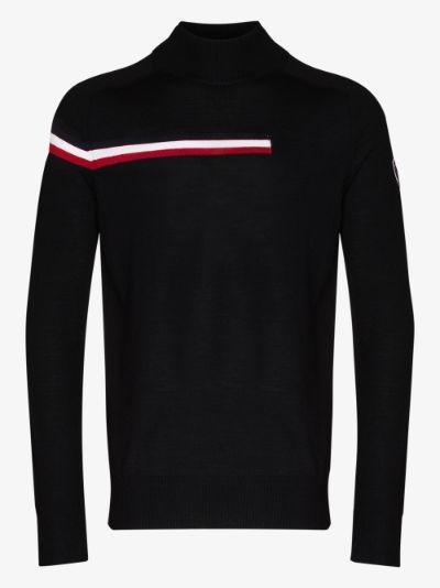 Black Diago stripe sweater
