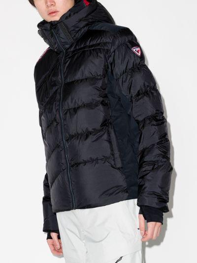 Black Hiver down Ski Jacket