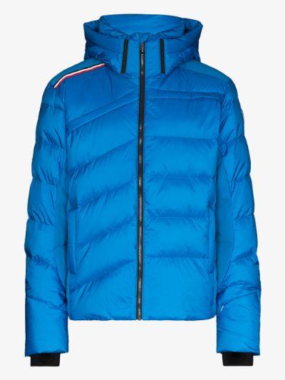 blue Hiver down ski jacket