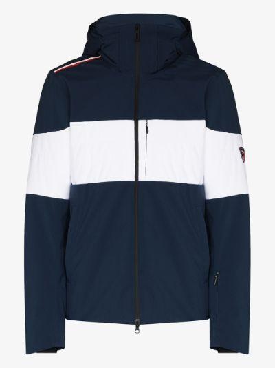 blue Palmares hooded ski jacket