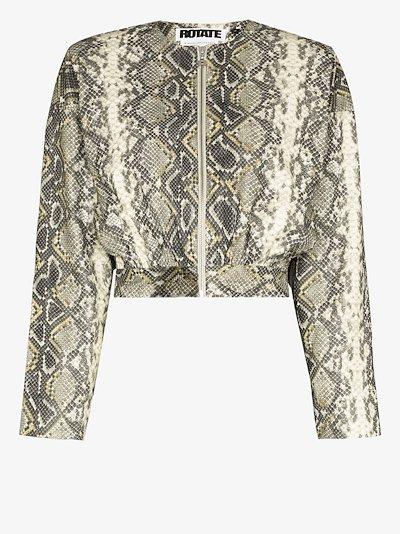 Bonnie snake print cropped jacket