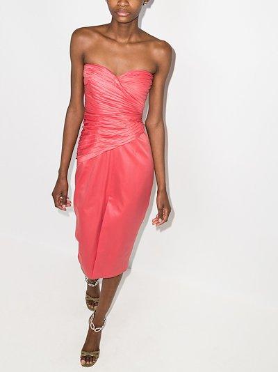 Donna strapless midi dress