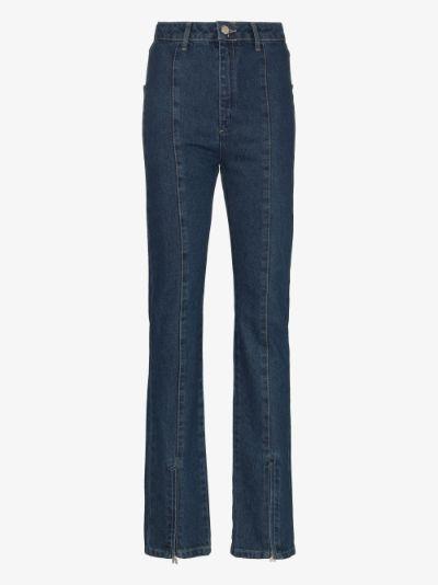 Jada zip hem jeans