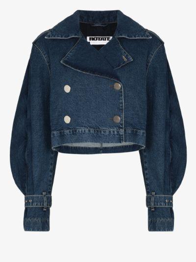 Loretta cropped denim jacket