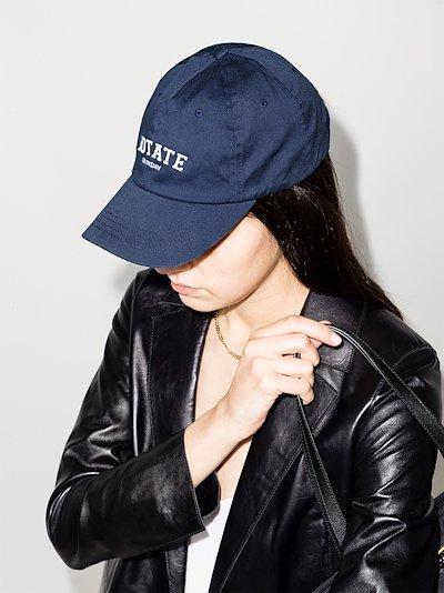 navy Sunday logo embroidered baseball cap