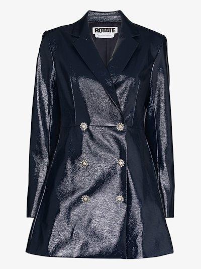 Newton patent blazer dress