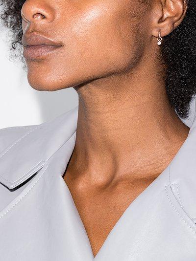 14K rose gold diamond earring charm