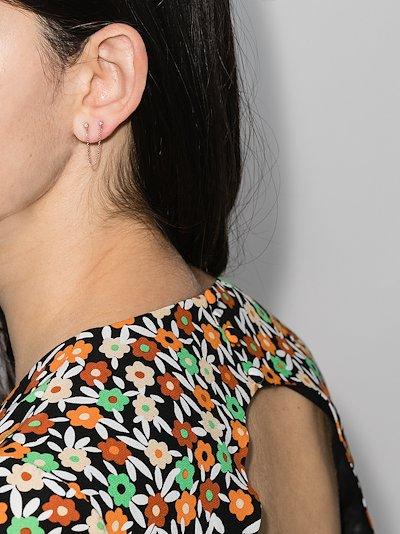 14K rose gold Laura chain diamond earring