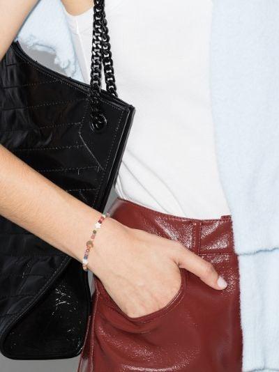 14K rose gold moon star pearl beaded bracelet