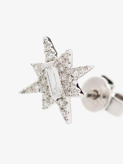 14K white gold Becky's diamond star stud earring