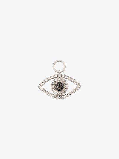 14K white gold diamond eye charm