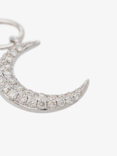 14K white gold diamond moon charm