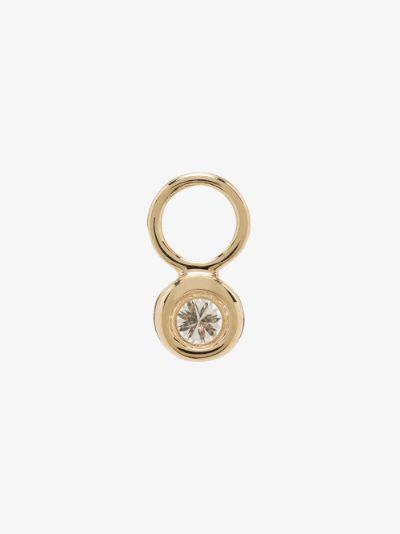 14K yellow gold diamond earring charm