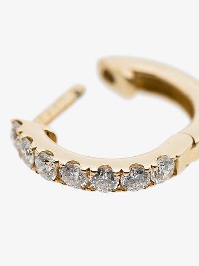 14K yellow gold Medium Chubby diamond hoop earring