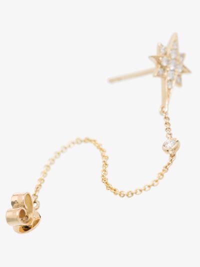 14K yellow gold shooting star diamond earring