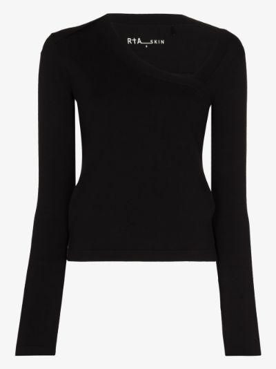 asymmetric neckline top