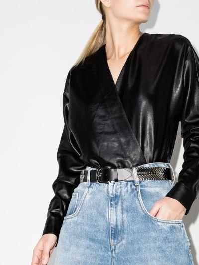 Ayla faux leather bodysuit