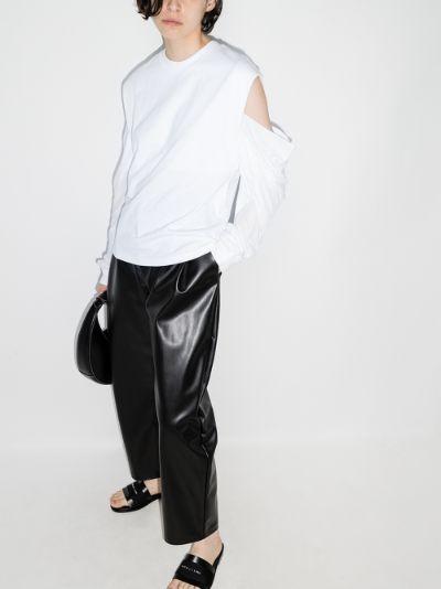 Capucine cold shoulder long sleeved top
