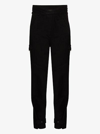 Dallas high waist cotton cargo pants