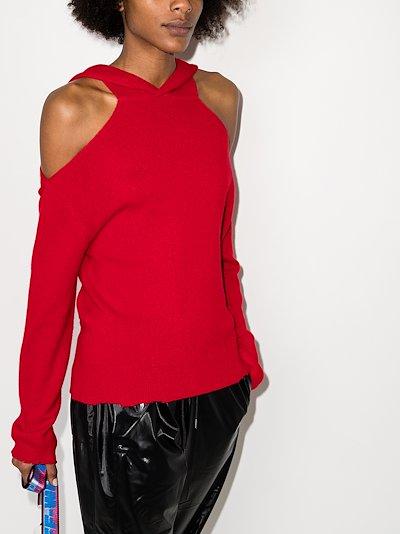 Juno cold shoulder cashmere sweater