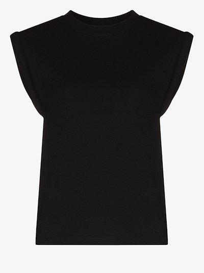 Kairi cap sleeve cotton T-shirt