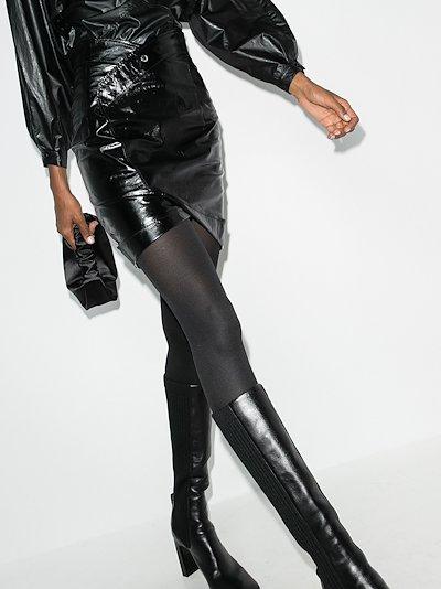 paloma leather mini skirt