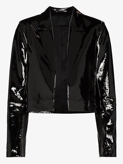 Wynn cropped leather blazer