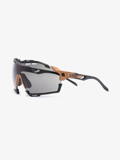 black cutline optics smoke sunglasses