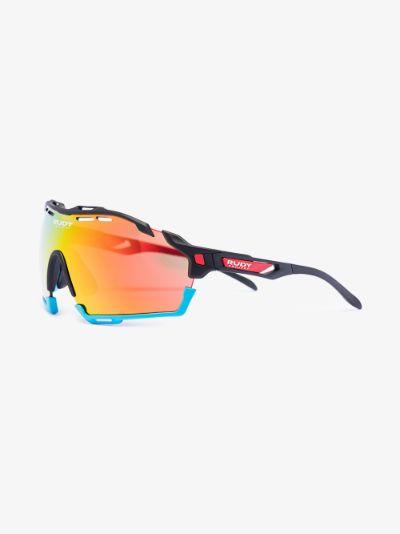 orange and blue cutline bahrain mclaren sunglasses