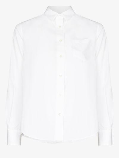 pleated back shirt