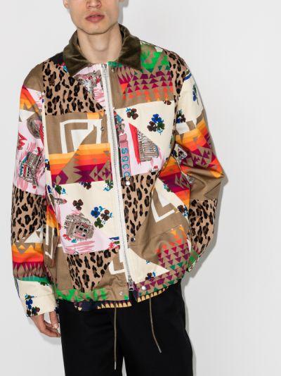 X Hank Willis Archive Print Mix Jacket