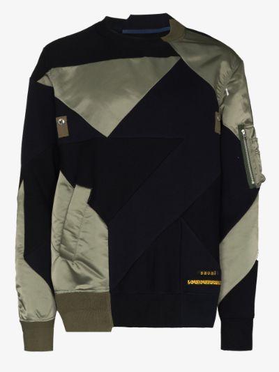 X Hank Willis Thomas geometric panel sweatshirt