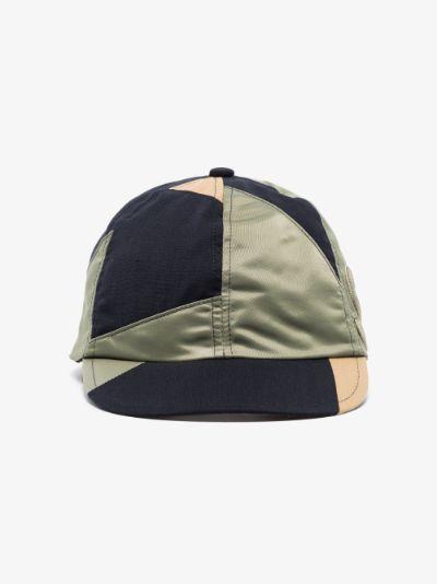 X Hank Willis Thomas green patchwork cap