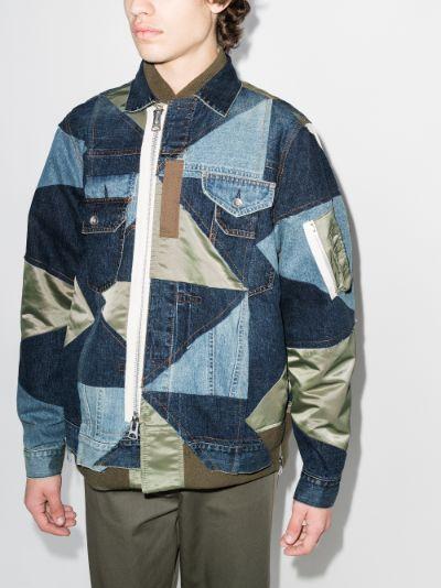 X Hank Willis Thomas Patchwork Bomber Jacket