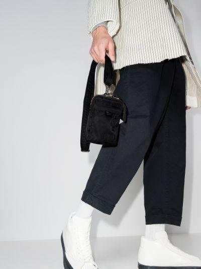 X Porter-Yoshida & Co. black mobile pouch