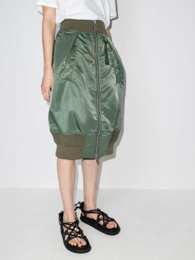 zipped tulip skirt