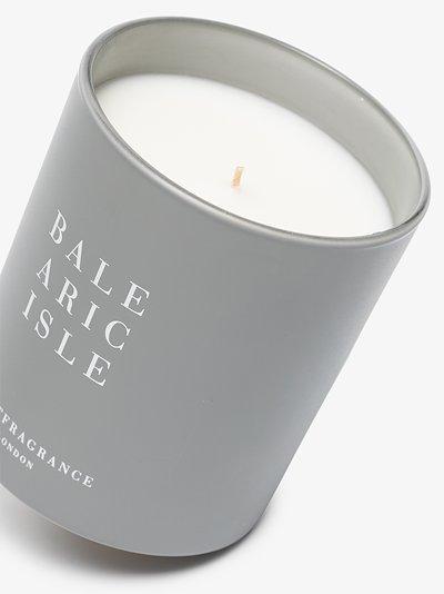 grey and white balearic isle candle