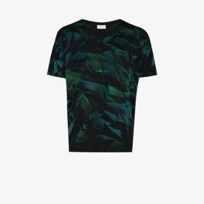 abstract-print T-shirt