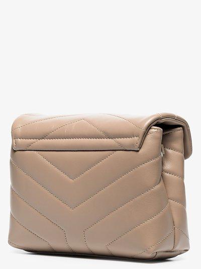 beige loulou toy leather shoulder bag