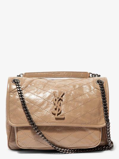beige Niki medium leather shoulder bag
