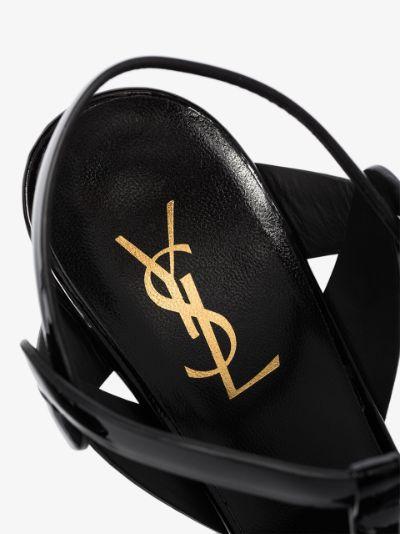 Black 135 Patent Platform Sandals