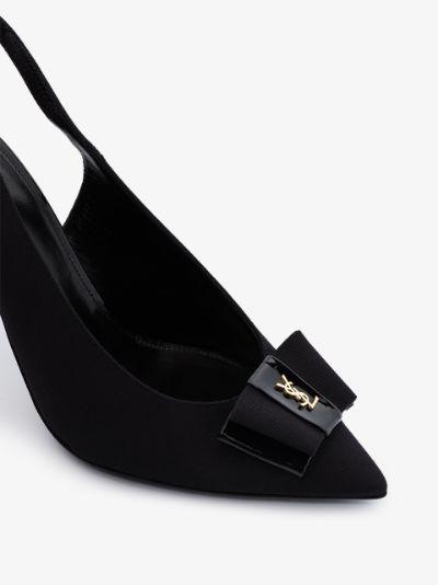 black Anaïs slingback bow pumps