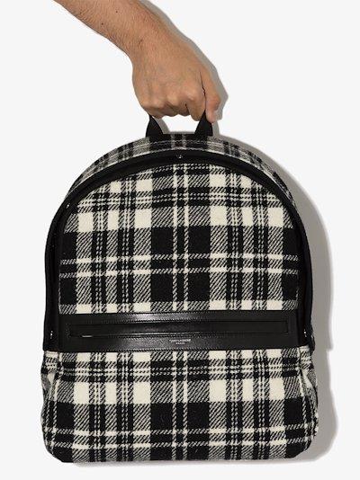 black and white Camp printed backpack
