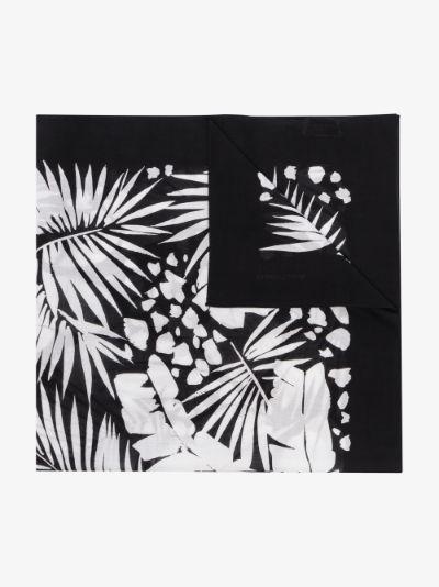black and white tropical print bandana scarf