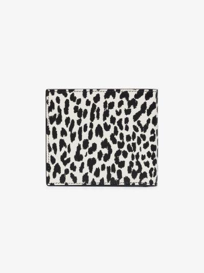black animal print leather wallet