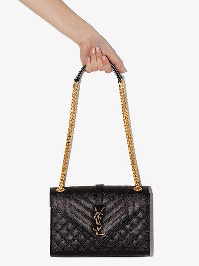 black Envelope medium leather shoulder bag
