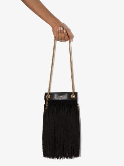 black Grace fringed shoulder bag