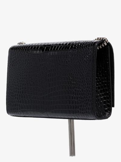 Black Kate 99 mock croc leather shoulder bag