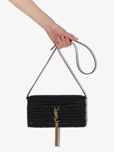 black Kate 99 raffia shoulder bag